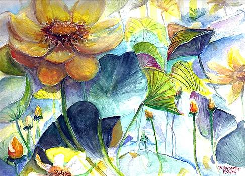 Texas Water Lilies by Bernadette Krupa
