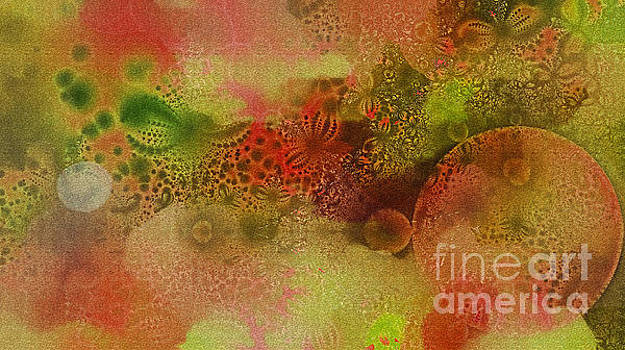 Textured Flowers and Bubbles by Geraldine DeBoer