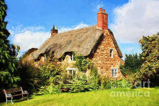 Thatch Cottage. by ShabbyChic fine art Photography