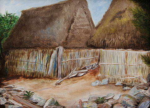 Thatch Huts by Sylvia Riggs