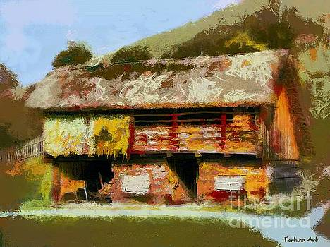 Thatched Barn by Dragica Micki Fortuna