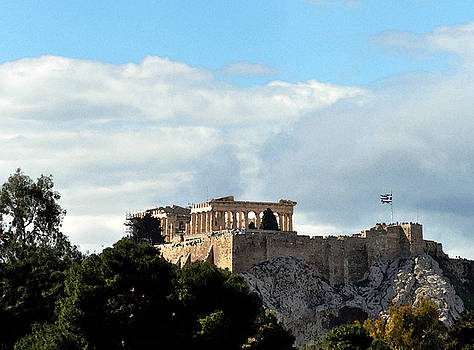 The Acropolis Watercolor by Eric Liller