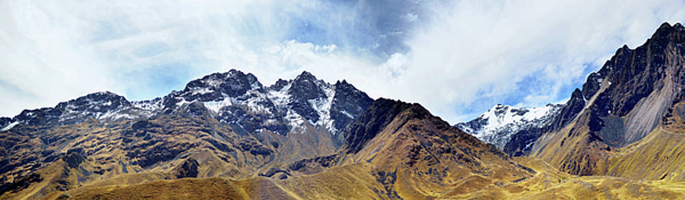 The Andes or  the Southern Cordilleras panorama by Aleksandr Volkov