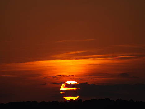 The August Sunset by Rebecca Cearley