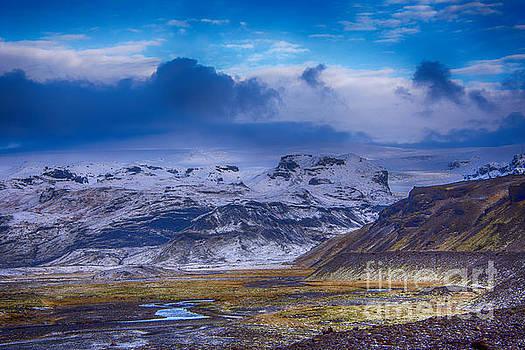 The base of Myrdalsjokull Glacier by Chris Thaxter