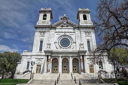 The Basilica of Saint Mary Minneapolis Springtime 2 by Wayne Moran