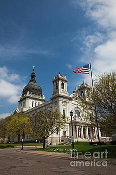 The Basilica of Saint Mary Minneapolis Springtime 3  by Wayne Moran