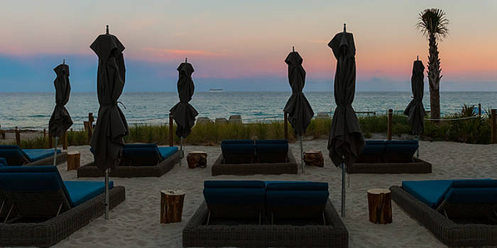 The Beach Club at Sundown by Ed Gleichman