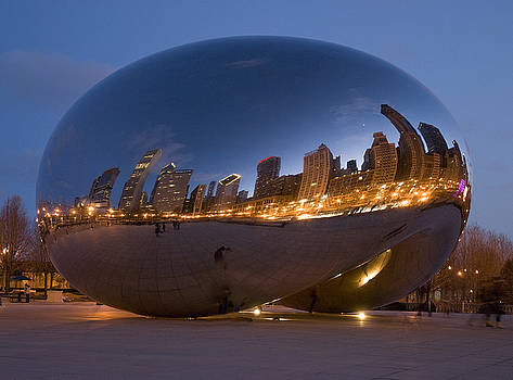 The Bean - Millenium Park - Chicago by Jim Wright