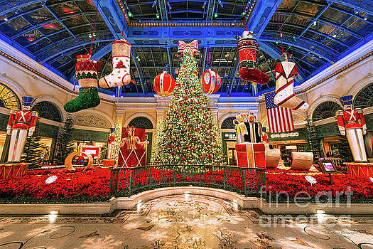 The Bellagio Christmas Tree Wide 2015 by Aloha Art