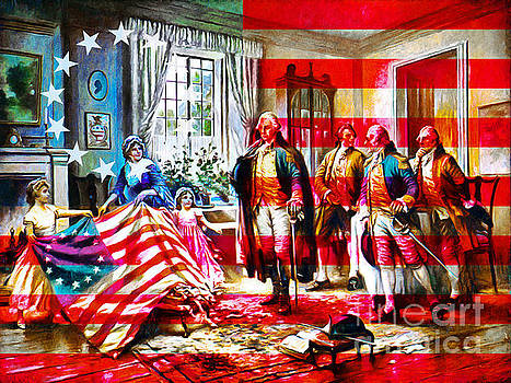 Wingsdomain Art and Photography - The Birth Of Old Glory With Flag 20150710