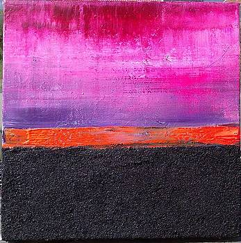 The black road to orange under pink by Mats Andersson