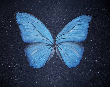 The Blue Butterfly by Edwin Alverio