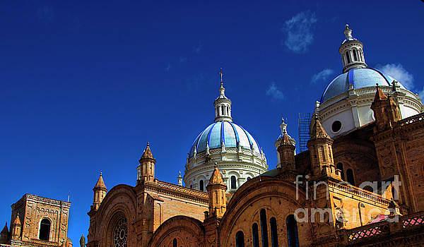The Blue Domes Of Cuenca, Ecuador by Al Bourassa