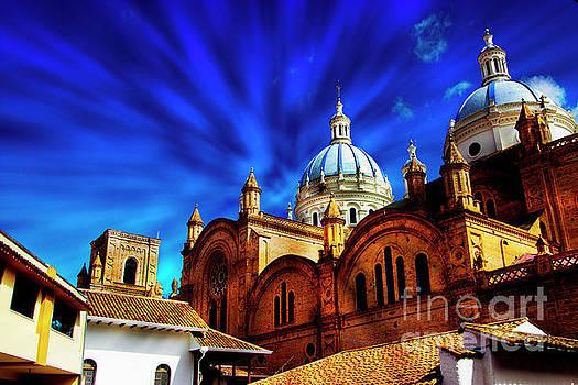 The Blue Domes Of Cuenca II by Al Bourassa