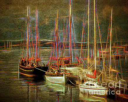 The Boats of Brixham by Edmund Nagele