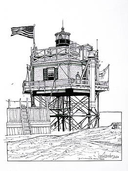 The Boston Narrows Lighthouse by Ira Shander