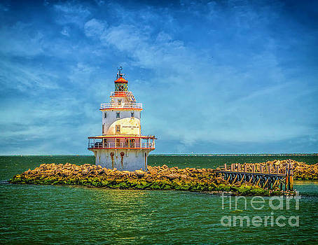 The Brandywine Shoal Lighthouse by Nick Zelinsky
