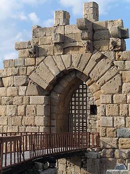 The bridge leading to the main gate of Sidon Sea Castle by Sarah kanawati