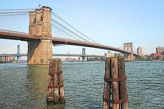 The Brooklyn Bridge by Ericamaxine Price