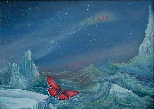 The butterfly  above the ocean by Alexander Dudchin