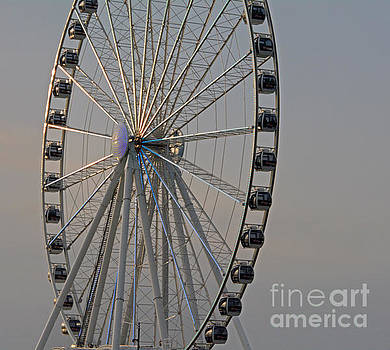 The Capital Wheel At Dusk by Emmy Marie Vickers