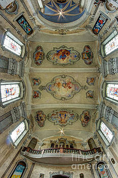 The ceiling of the baroque church of the Visitation by Michal Boubin