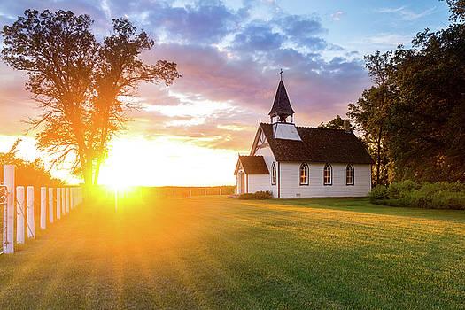 The Church Of The Setting Sun by Nebojsa Novakovic
