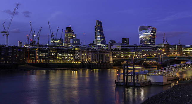 The City from The Southbank by Stuart Gennery