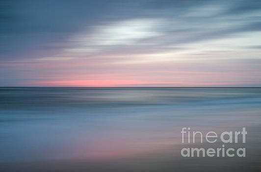 The Colors of Evening on the Beach Landscape Photograph by Melissa Fague