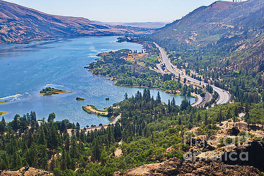 The Columbia River in the Gorge by Ansel Price