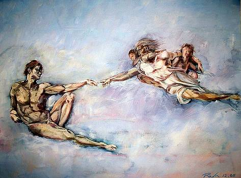 The Creation of Adam after Michelangelo by RB McGrath