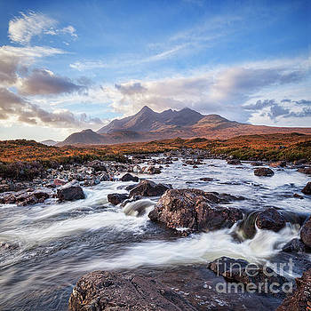 The Cuillins and the River Slgachan by Colin and Linda McKie