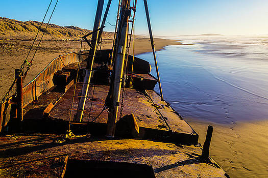 The Deck Of An Abandoned Boat by Garry Gay
