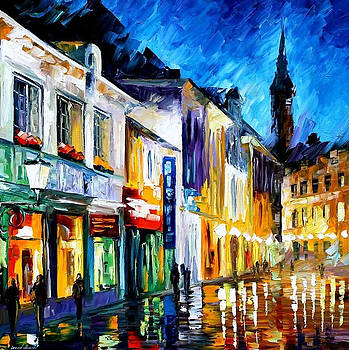 The Dream Of The Soul - PALETTE KNIFE Oil Painting On Canvas By Leonid Afremov by Leonid Afremov