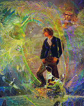 The Dreamer-Angel tarot card by Steve Roberts