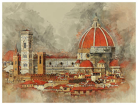 The Duomo Florence by Brian Tarr