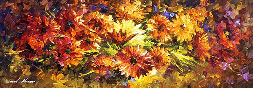 The Dust Of Feelings - PALETTE KNIFE Oil Painting On Canvas By Leonid Afremov by Leonid Afremov