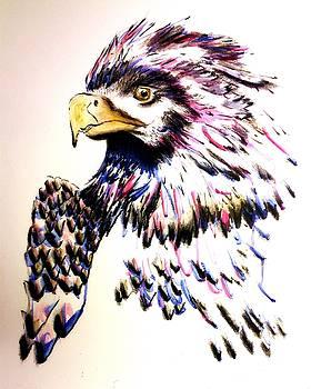 Watercolor Painting of The Eye of Freedom by Ayasha Loya by Ayasha Loya