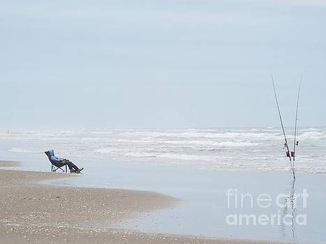 The Fisherman On South Padre Island by John Kolenberg