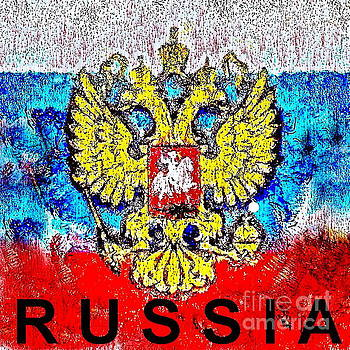 the flag of Russia by Yury Bashkin