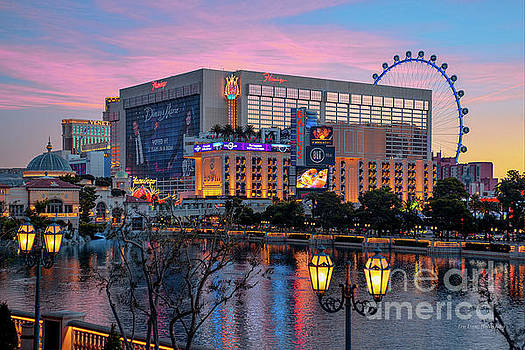 The Flamingo Casino at Dawn by Aloha Art