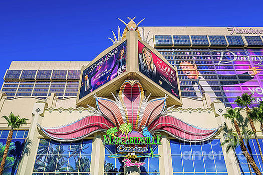 The Flamingo Margaritaville Sign Wide by Eric Evans