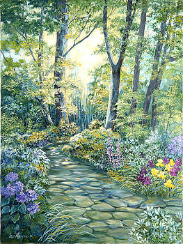 The Garden Left side of Triptych by Lois Mountz