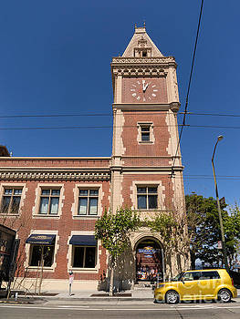 Wingsdomain Art and Photography - The Ghirardelli Chocolate Factory Clock Tower San Francisco California DSC3241