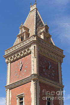 Wingsdomain Art and Photography - The Ghirardelli Chocolate Factory Clock Tower San Francisco California DSC3247