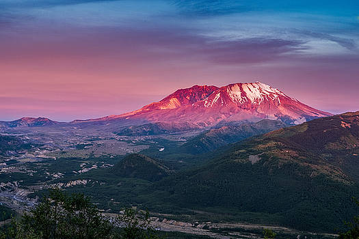 The Glow at Mt St Helens by Ken Stanback