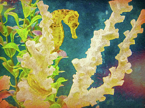 The Golden Seahorse Painted by Sandi OReilly