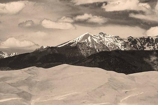 James BO  Insogna - The Great Sand Dunes and Sangre de Cristo Mountains - Sepia