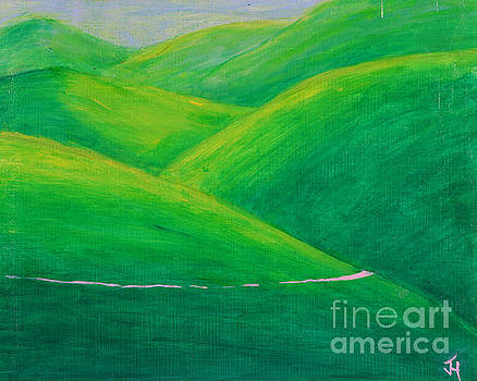 The Green Green Hills Of Paso Robles by Jack Hedges